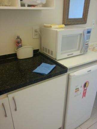 Detalhe das instalações da cozinha.