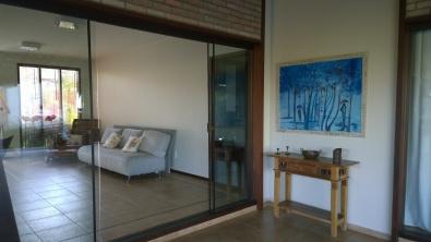 Da sala de entrada para a varanda